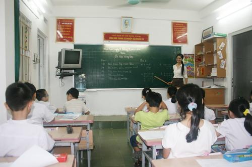 Giờ học toán của lớp 3A1